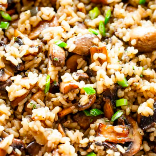 Easy One Pot Mushroom Rice